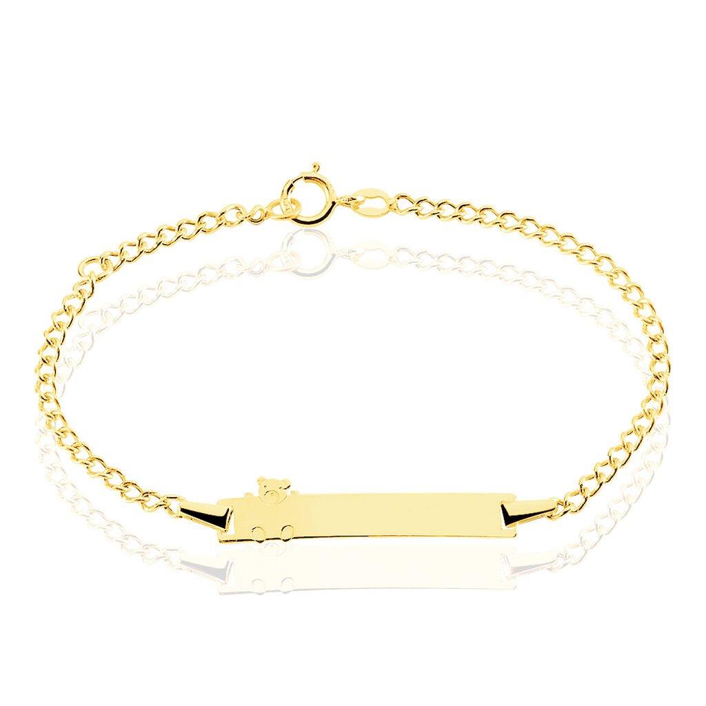 Bracelet Identité Etheline Maille Gourmette Or Jaune - Bracelets Communion Enfant | Histoire d'Or