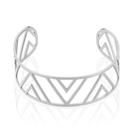 Manchette Acier Triangles Ajoures - Bracelets fantaisie Femme | Histoire d'Or