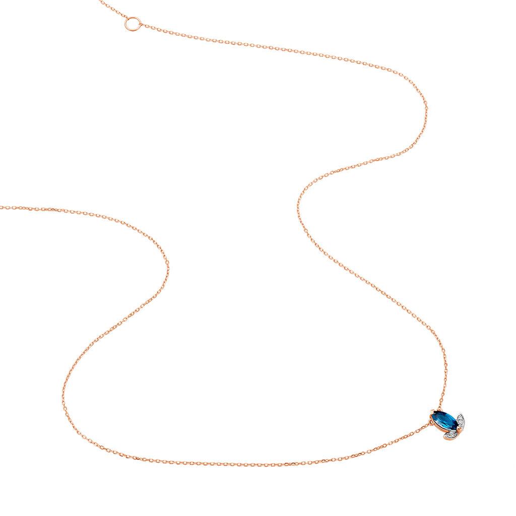 Collier Anais Or Rose Topaze Et Diamant - Bijoux Femme | Histoire d'Or