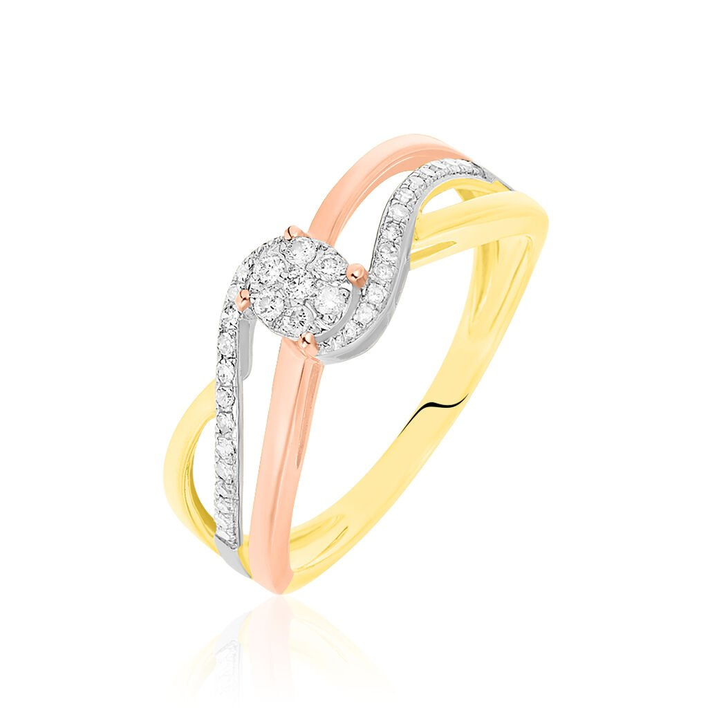 Bague Kyliane Or Tricolore Diamant