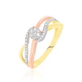 Bague Kyliane Or Tricolore Diamant - Bagues avec pierre Femme | Histoire d'Or