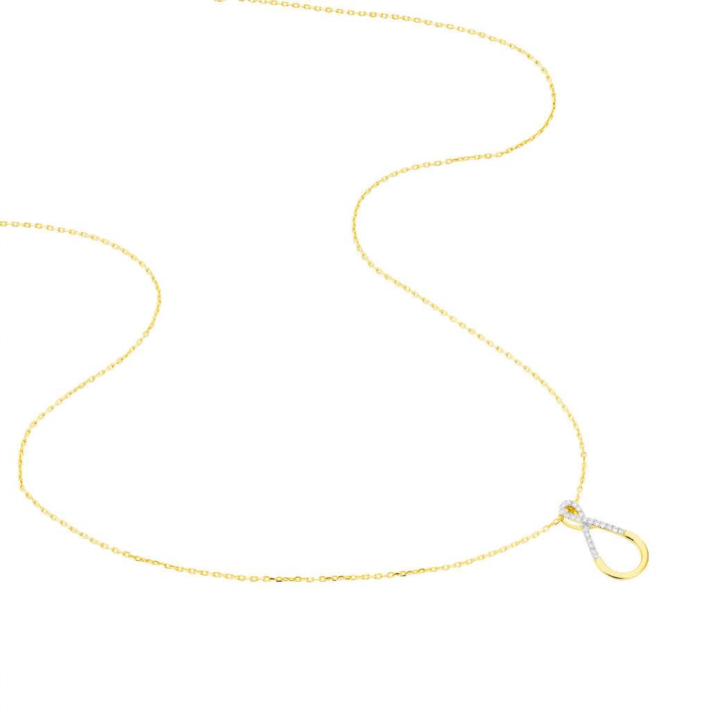 Collier Atea Or Jaune Diamant - Bijoux Femme   Histoire d'Or