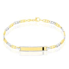Bracelet Identité Bébé Or Bicolore Andrea - Bracelets Communion Enfant   Histoire d'Or