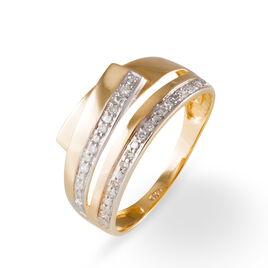 Bague Mesmin Or Jaune Diamant - Bagues avec pierre Femme | Histoire d'Or