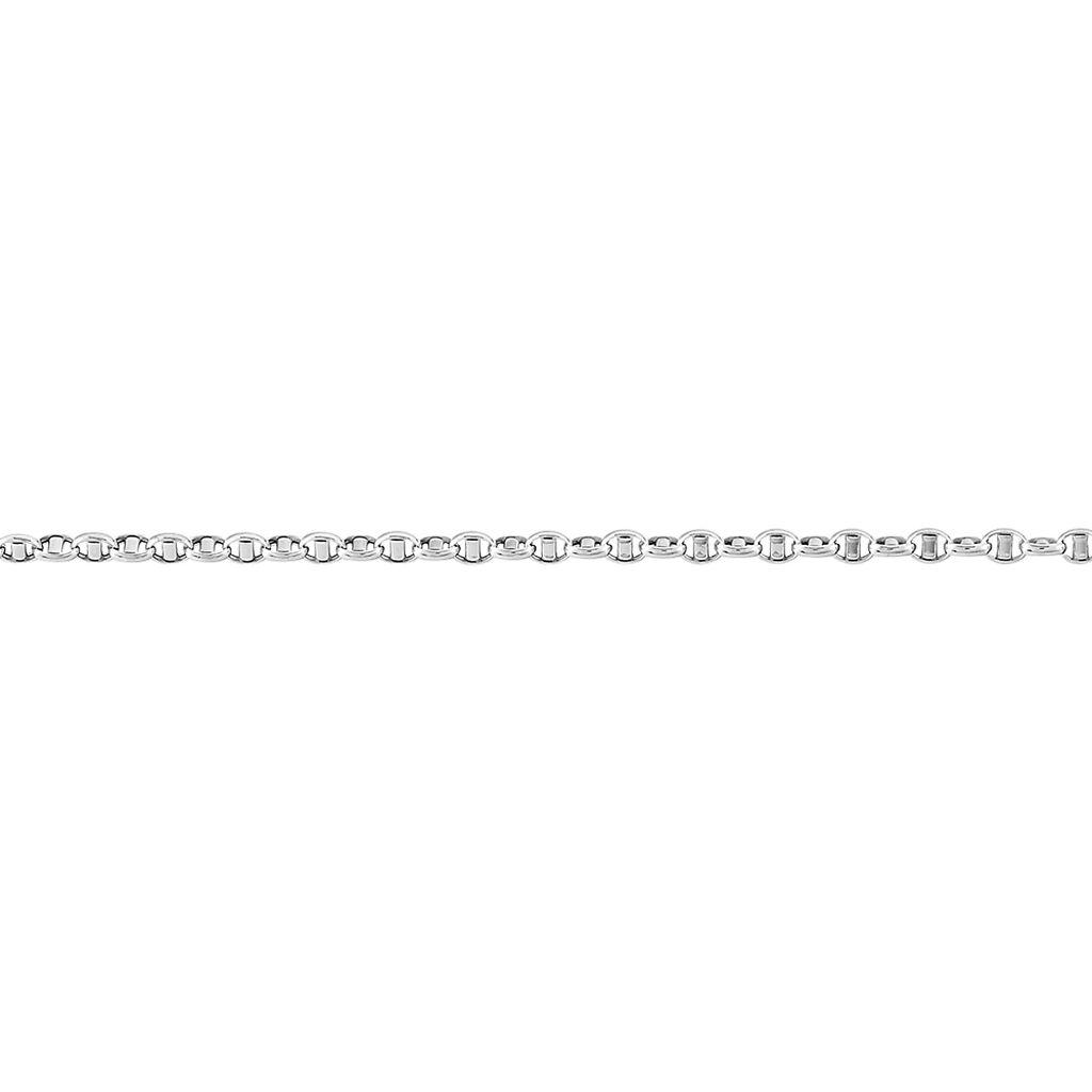 Bracelet Carlo Maille Marine Ronde Or Blanc - Bracelets chaîne Femme   Histoire d'Or