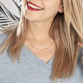 Collier Naria Plaque Or Jaune - Colliers doubles et triples chaînes Femme   Histoire d'Or