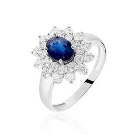 Bague Ivan Or Blanc Saphir Et Diamant - Bagues avec pierre Femme | Histoire d'Or