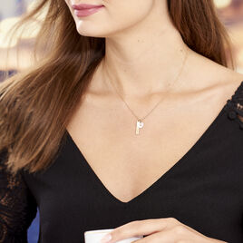 Collier Dreaming Argent Rose Oxyde De Zirconium - Colliers Coeur Femme | Histoire d'Or