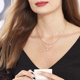 Collier Ruth Argent Rose Oxyde De Zirconium - Colliers doubles et triples chaînes Femme | Histoire d'Or