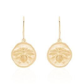 Boucles D'oreilles Pendantes Ranya Plaque Or Jaune - Boucles d'oreilles fantaisie Femme | Histoire d'Or