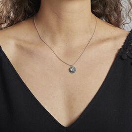 Collier Argent Rhodie Bapper Oxydes De Zirconium - Colliers fantaisie Femme   Histoire d'Or