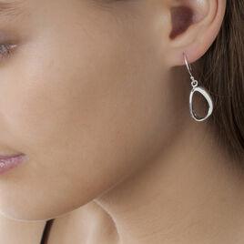 Boucles D'oreilles Pendantes Maidy Argent Blanc - Boucles d'oreilles fantaisie Femme | Histoire d'Or
