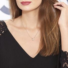 Collier Jelissa Plaque Or Jaune Oxyde De Zirconium - Colliers Papillon Femme | Histoire d'Or