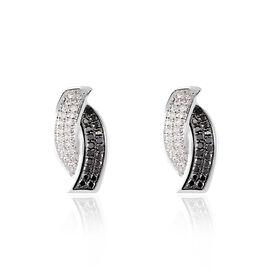 Boucles D'oreilles Puces Oia Or Blanc Diamant - Clous d'oreilles Femme | Histoire d'Or