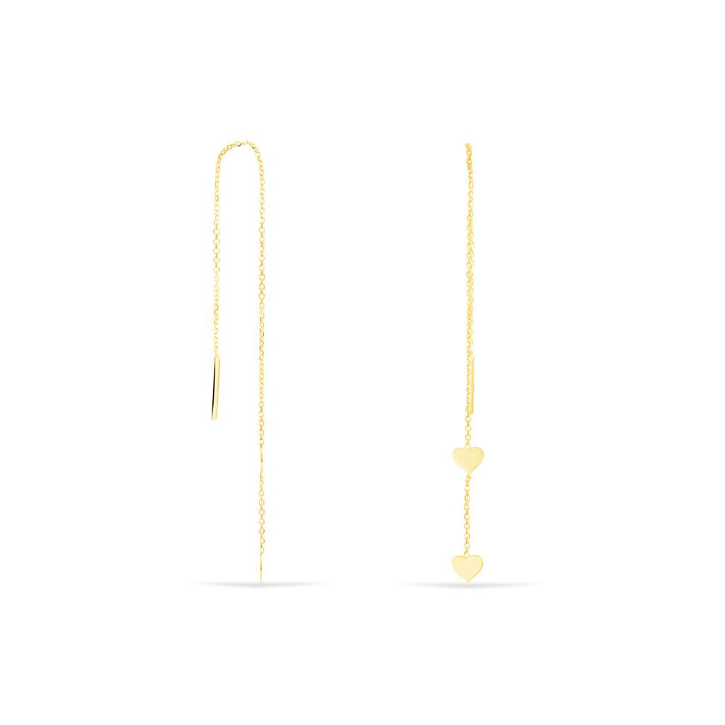 Boucles D'oreilles Pendantes Maywenn Or Jaune - Boucles d'Oreilles Coeur Femme | Histoire d'Or