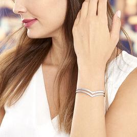 Bracelet Jonc Wilna Acier Blanc - Bracelets fantaisie Femme | Histoire d'Or