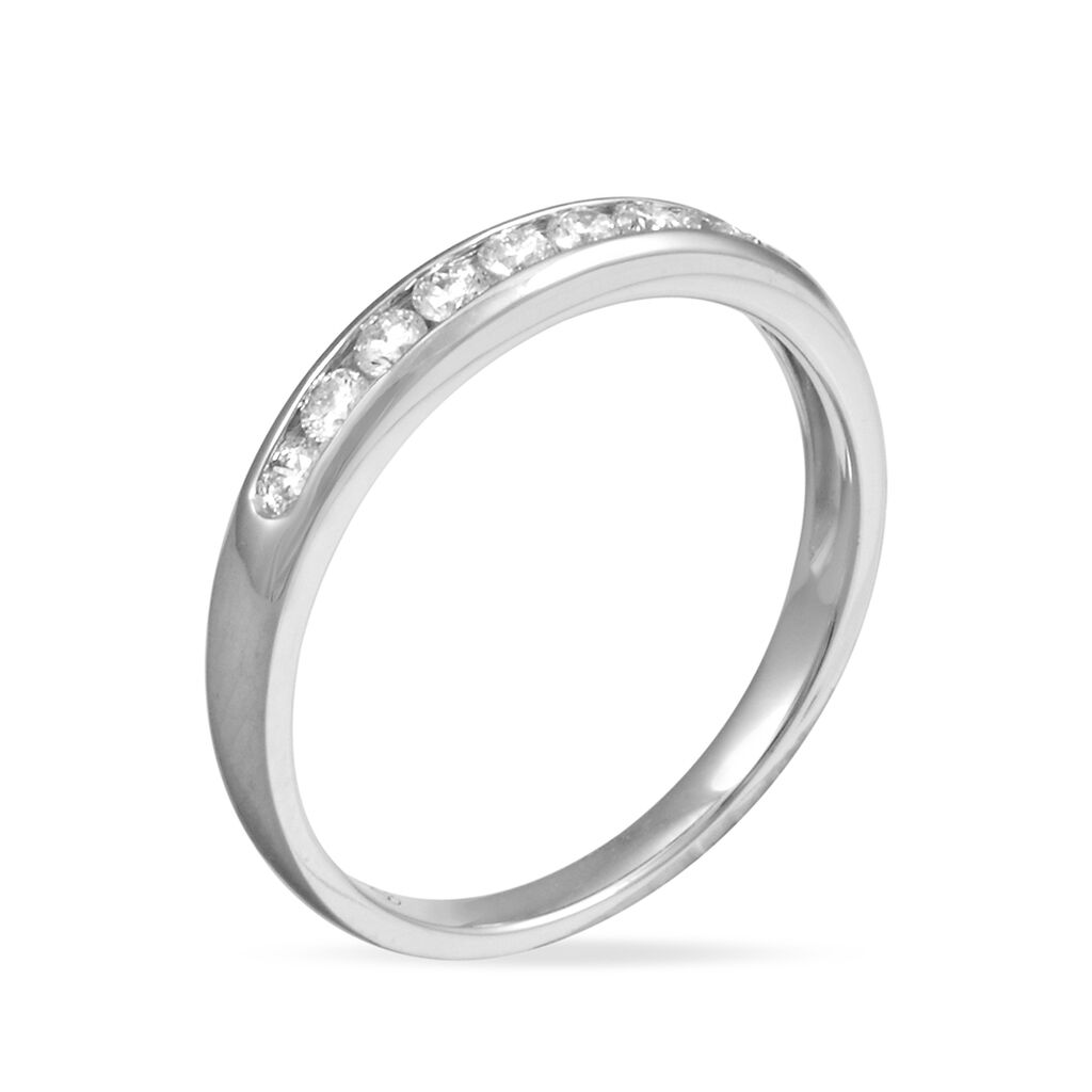 Alliance Giulia Platine Blanc Diamant - Alliances Femme | Histoire d'Or