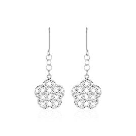 Boucles D'oreilles Pendantes Ximena Or Blanc - Boucles d'oreilles pendantes Femme   Histoire d'Or