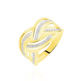 Bague Leopoldine Or Jaune Diamant - Bagues avec pierre Femme   Histoire d'Or