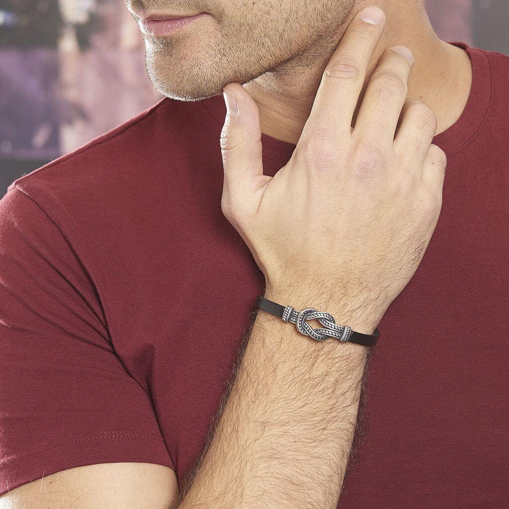 Bracelet Gerry Acier Blanc - Bracelets fantaisie Homme   Histoire d'Or