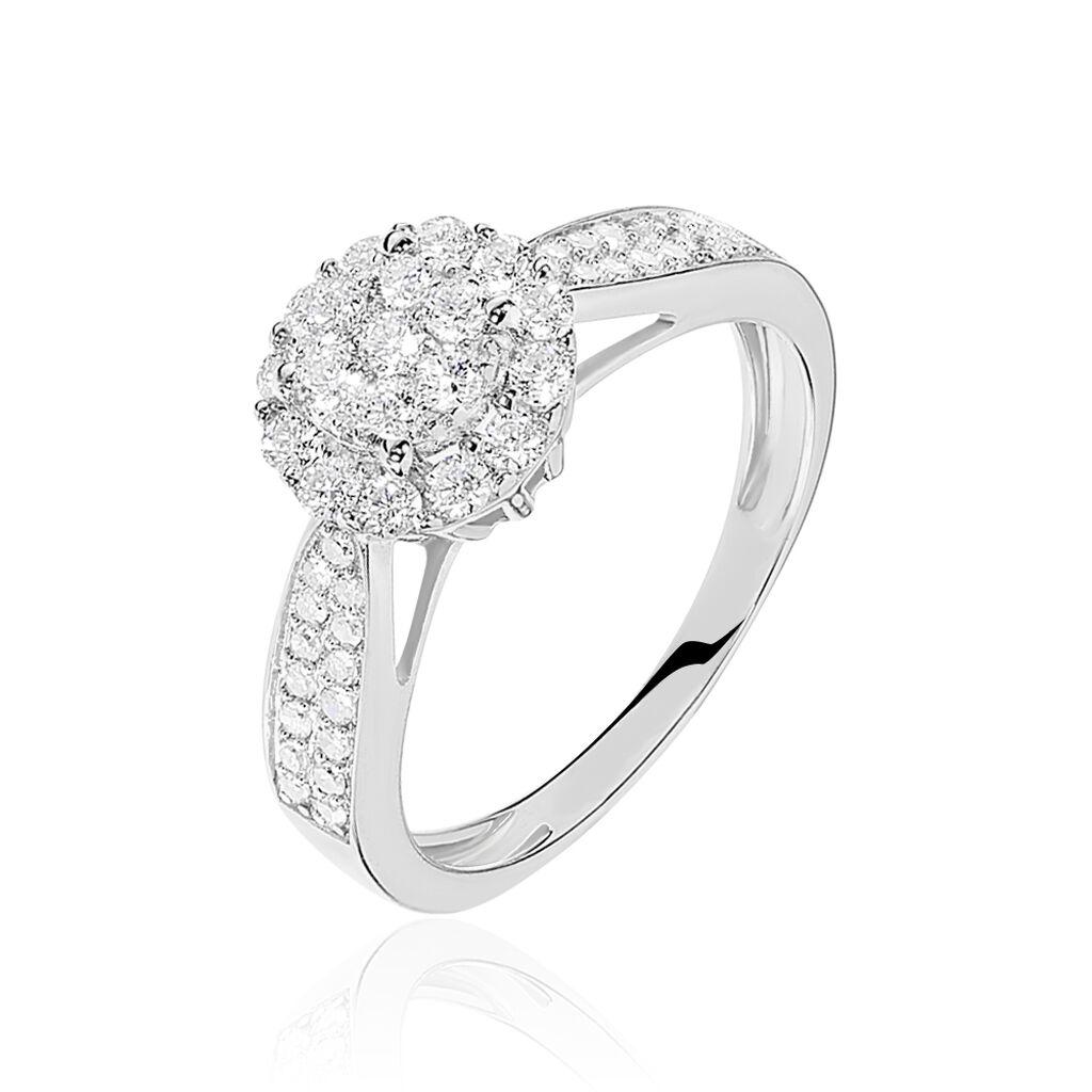 Nouveau Bague Chou Or Blanc Diamant - B3DFBDW849L • Histoire d'Or CY-65