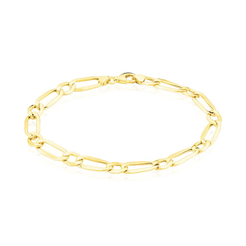 Bracelet Ophelio Maille Alternee 1/1 Or Jaune - Bracelets chaîne Homme | Histoire d'Or