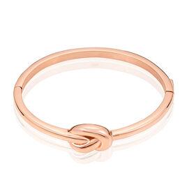 Bracelet Jonc Acier Rose - Bracelets fantaisie Femme   Histoire d'Or