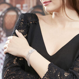 Bracelet Lydwine Argent Blanc - Bijoux Femme | Histoire d'Or