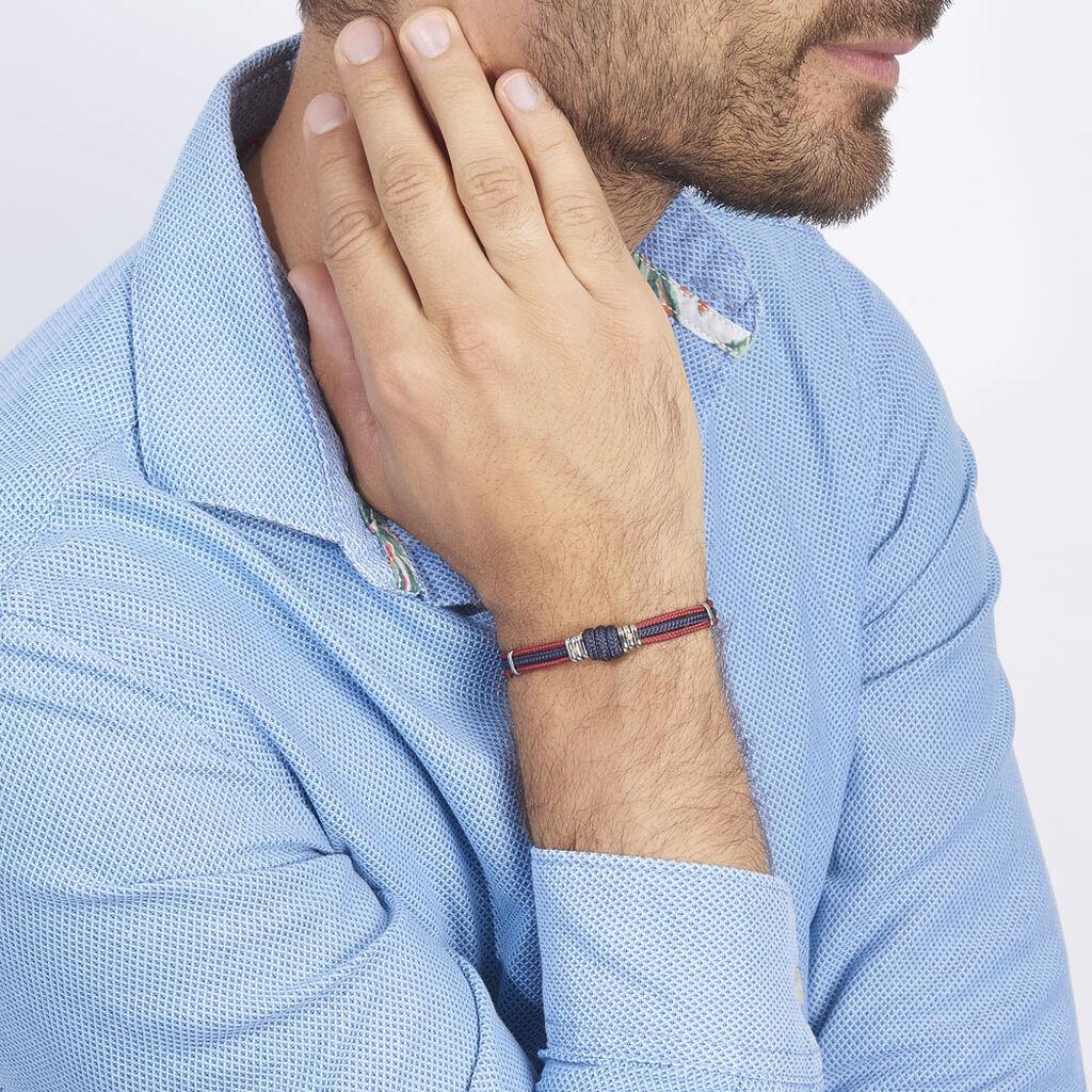 Bracelet Agarae Acier Blanc - Bracelets cordon Homme | Histoire d'Or