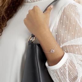 Bracelet Melvyn Argent Blanc Oxyde De Zirconium - Bracelets fantaisie Femme | Histoire d'Or