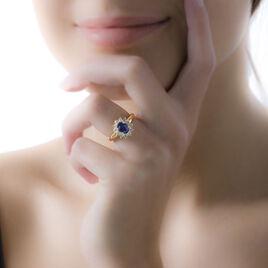 Bague Vladimir Or Jaune Saphir Et Diamant - Bagues avec pierre Femme   Histoire d'Or