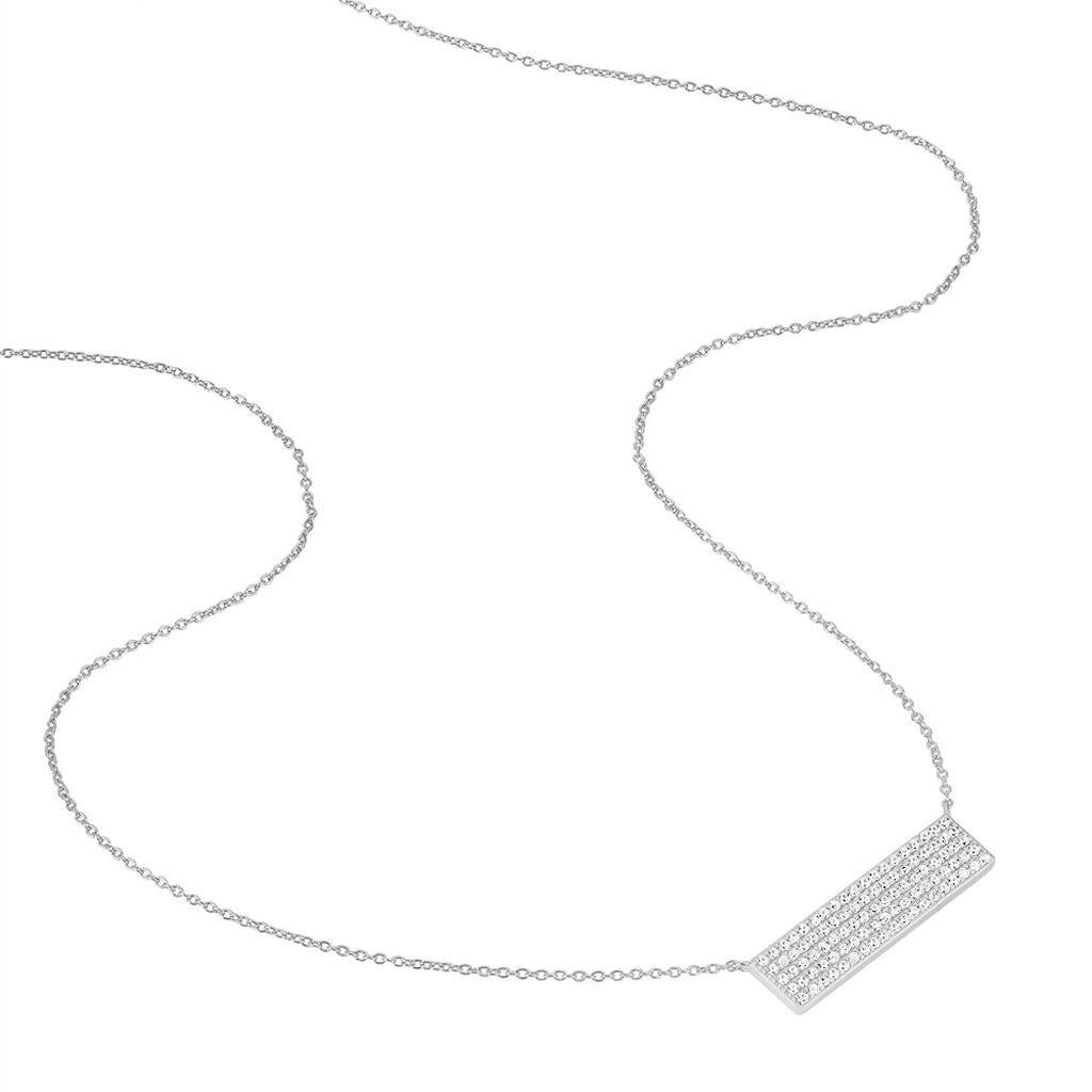 Collier Tifania Argent Blanc Oxyde De Zirconium - Colliers fantaisie Femme | Histoire d'Or