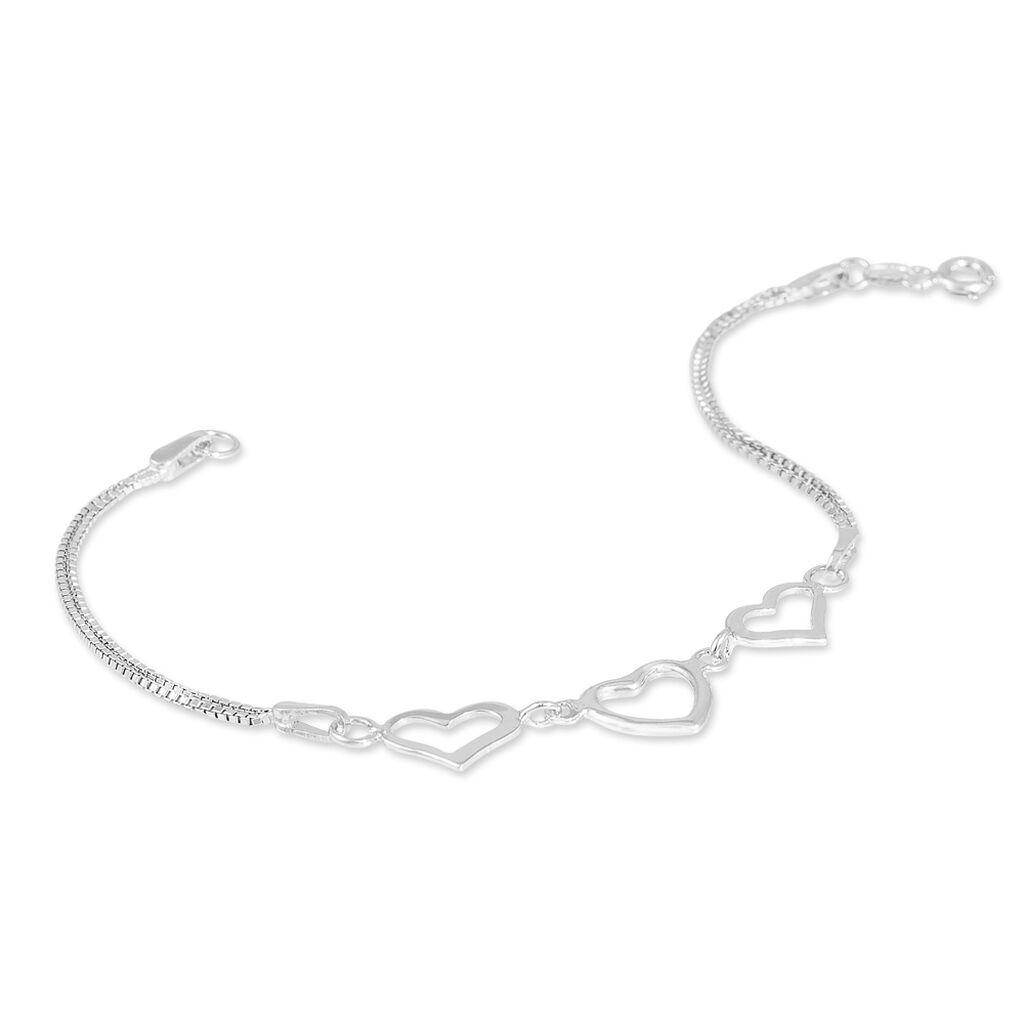 Bracelet Ayann Argent Blanc - Bracelets Coeur Femme | Histoire d'Or