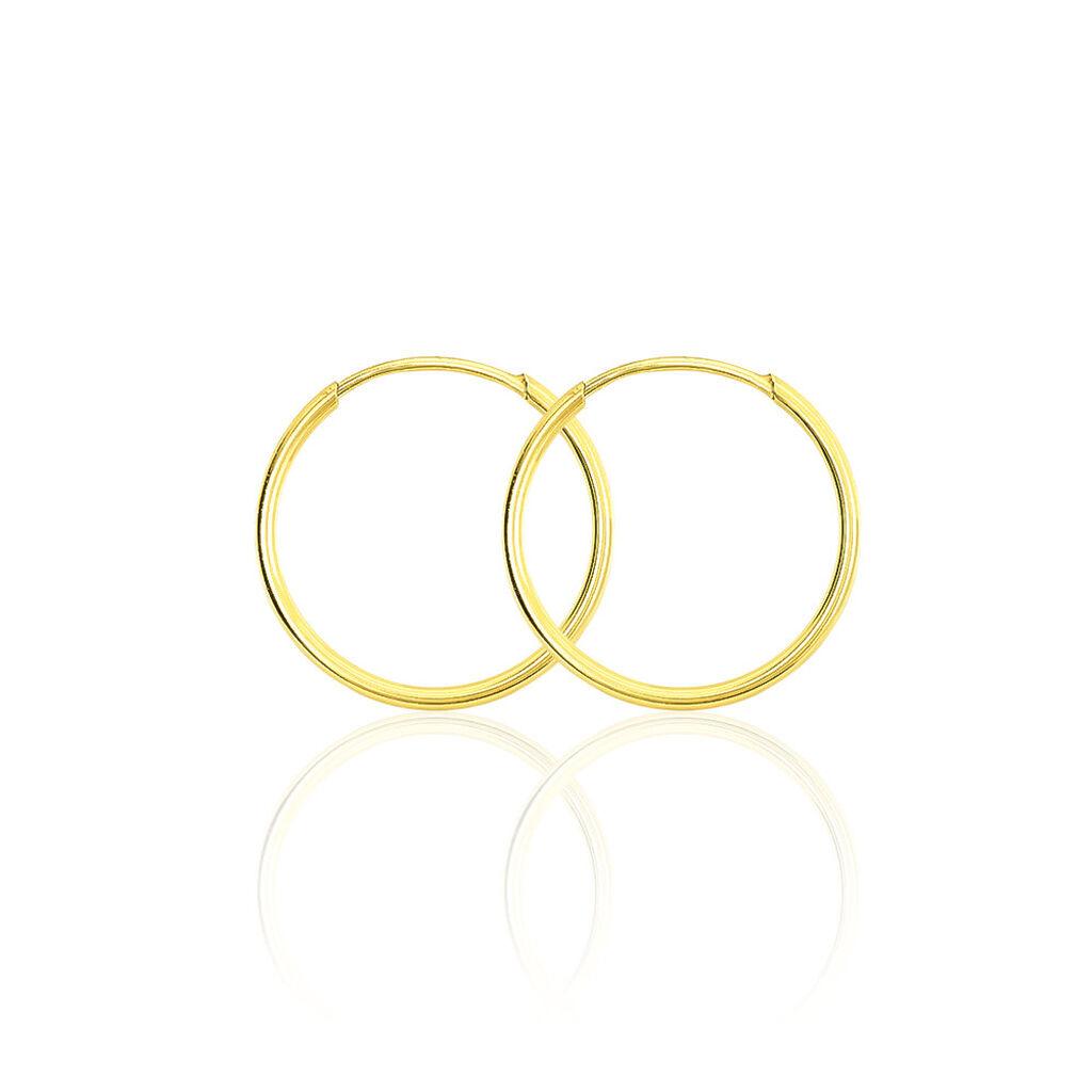 Créoles Muses Flexibles Rondes Or Jaune - Boucles d'oreilles créoles Femme | Histoire d'Or