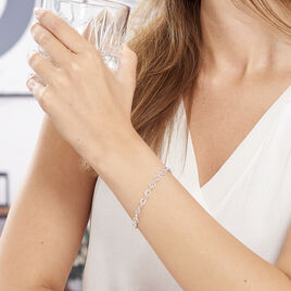 Bracelet Mayan Argent Blanc - Bracelets fantaisie Femme | Histoire d'Or