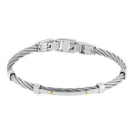Bracelet Sarenne Acier Bicolore - Bijoux Homme | Histoire d'Or