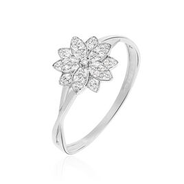 Bague Norria Or Blanc Diamant - Bagues avec pierre Femme | Histoire d'Or