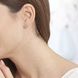 Boucles D'oreilles Puces Balla Argent Blanc - Boucles d'oreilles fantaisie Femme   Histoire d'Or
