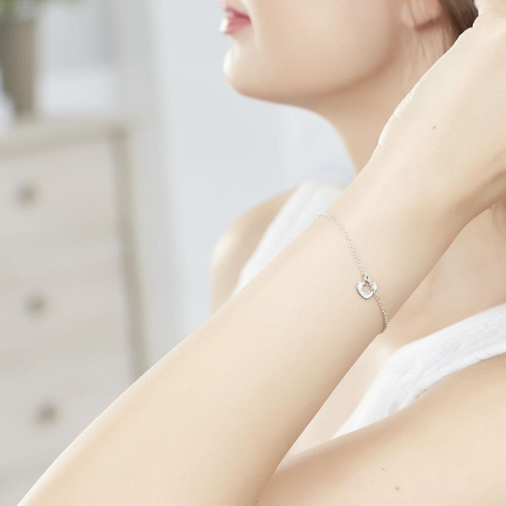 Bracelet Cenydd Argent Blanc - Bracelets Coeur Femme   Histoire d'Or