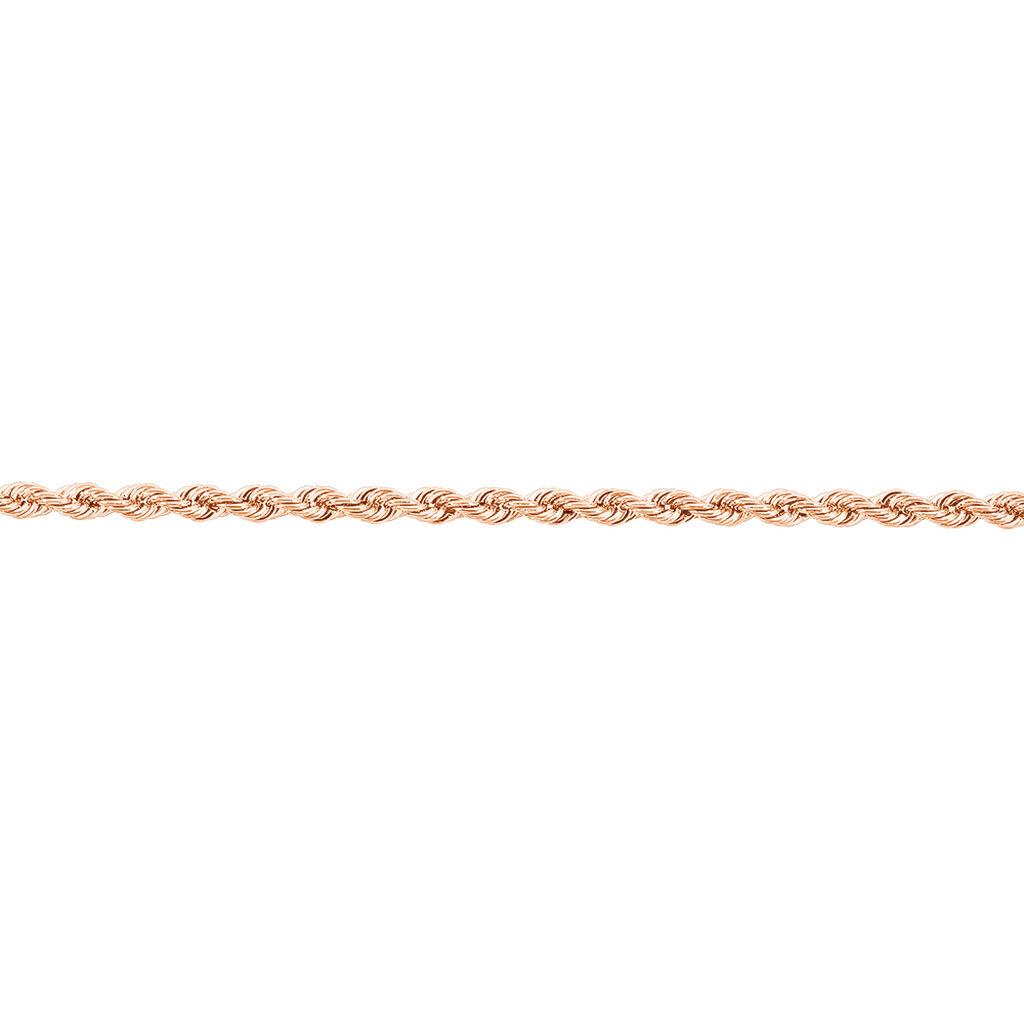 Bracelet Jerry Maille Corde Or Rose - Bracelets chaîne Femme   Histoire d'Or