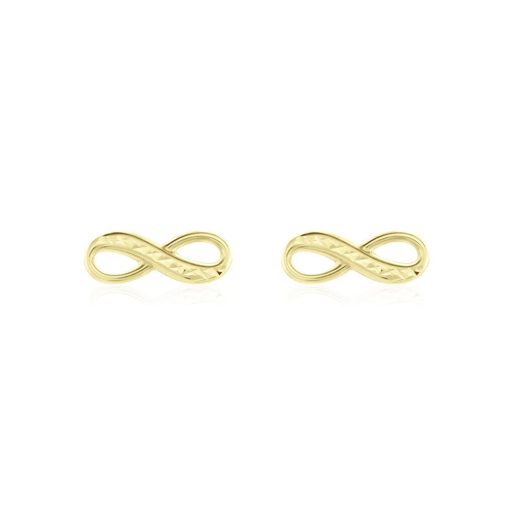 Boucles D'oreilles Puces Ferrera Or Jaune - Boucles d'Oreilles Infini Femme   Histoire d'Or