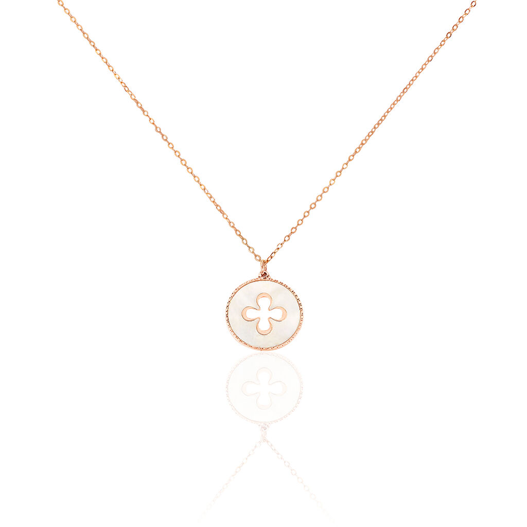 Collier Or Rose - Colliers Trèfle Femme   Histoire d'Or