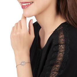 Bracelet Laetiti Argent Blanc - Bracelets fantaisie Femme   Histoire d'Or