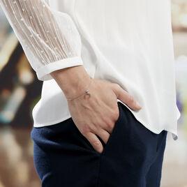 Bracelet Luna Argent Etoile Oxyde Corne - Bijoux Etoile Femme   Histoire d'Or