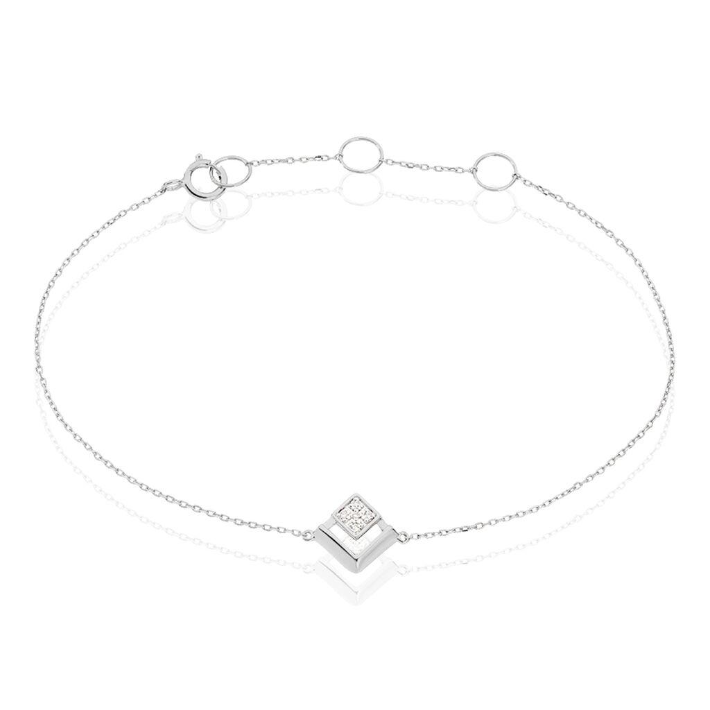 Bracelet Liana Or Blanc Diamant - Bijoux Femme | Histoire d'Or