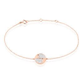 Bracelet Inna Or Rose Oxyde De Zirconium - Bijoux Femme | Histoire d'Or