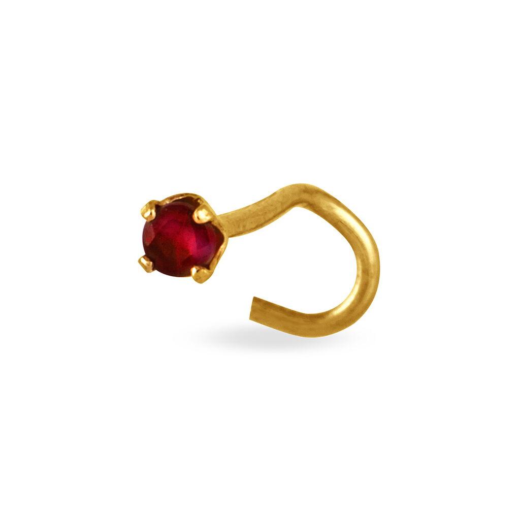 Piercing De Nez Friea Serti Griffe Or Jaune Rubis - Bijoux Femme   Histoire d'Or