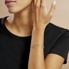Bracelet Noelle Argent Blanc - Bracelets Infini Femme   Histoire d'Or