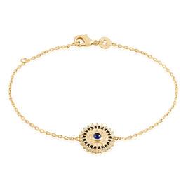 Bracelet Asterina Plaque Or Pierre De Synthese Et Oxyde De Zirconium - Bracelets fantaisie Femme | Histoire d'Or