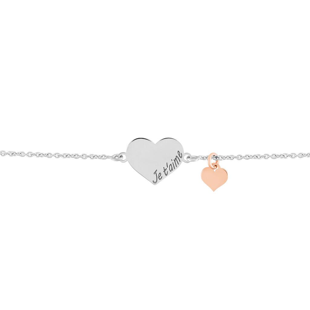 Bracelet Iella Argent Bicolore - Bracelets Coeur Femme | Histoire d'Or